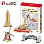 Cubic-Fun-C086H Puzzle 3D - Série mini Architectures : Monuments du monde (Difficulté : 3/8)