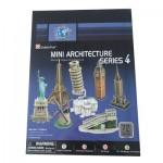 Cubic-Fun-C102H Puzzle 3D - Série mini Architectures : Monuments du monde (Difficulté : 3/8)