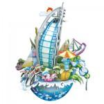 Cubic-Fun-OC3202 Puzzle 3D CityScape - Dubaï - Difficulté : 4/8
