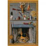 Puzzle  Pomegranate-AA712 John Haberle : La cheminée de Grand Mère