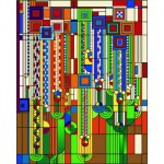 Puzzle  Pomegranate-AA756 Frank Lloyd Wright : Formes et fleurs de cactus Saguaro