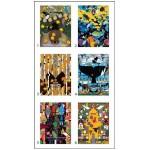 Puzzle  Pomegranate-PB005 Charley Harper - 12 cubes pour six oeuvres d'art