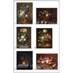 Puzzle  Pomegranate-PB008 Artistes Peintres Néerlandais - 12 cubes pour six oeuvres d'art