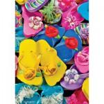 Master-Pieces-31526 Plus Petit Puzzle du Monde - Flippity Flops