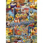 Puzzle  Master-Pieces-71661 Travel Suitcase - See America