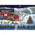 Puzzle  Master-Pieces-71676 Holiday Moonlit Evergreens