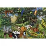 Puzzle  Cobble-Hill-50702 Arche de Noë : Deux par deux