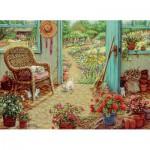 Puzzle  Cobble-Hill-51715 Janet Kruskamp : Le cabanon du Jardin