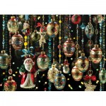 Puzzle  Cobble-Hill-51851 Christmas Ornaments
