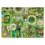 Puzzle  Cobble-Hill-51864 Shelley Davies: Green