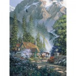 Puzzle  Cobble-Hill-52045 Pièces XXL - Douglas Laird : Mountain Hideaway