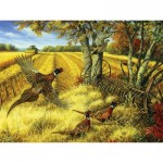 Puzzle  Cobble-Hill-52090 Pièces XXL - Linda Picken - Ring-necked Pheasants