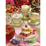 Puzzle  Cobble-Hill-52095 Pièces XXL - Strawberry Tea