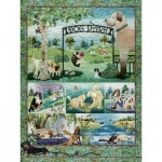 Puzzle  Cobble-Hill-52109 Pièces XXL - McKenna Ryan - Dog Park