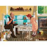 Puzzle  Cobble-Hill-54319 Pièces XXL - Thé avec Papi