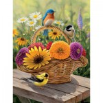 Puzzle  Cobble-Hill-54339 Pièces XXL - Rosemary Millette : Bouquet d'Eté