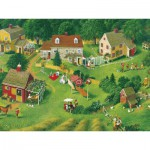 Puzzle  Cobble-Hill-54340 Pièces XXL - Charlotte Joan Sternberg : Back Yards