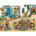 Puzzle  Cobble-Hill-54344 Pièces XXL - Janet Kruskamp - Fancy Flower Shop