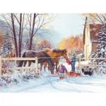 Puzzle  Cobble-Hill-54350 Pièces XXL - Douglas Laird - First Snow