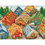 Puzzle  Cobble-Hill-54582 Chalets de Pain d'Epice