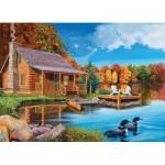 Puzzle  Cobble-Hill-70004 La Cabane d'Automne