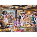 Puzzle  Jumbo-11018 Jim Mitchell : Ye olde Tea Shoppe