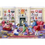 Puzzle  Jumbo-11023 Val Goldfinch : Family Games Night