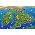 Puzzle  Jumbo-11047 Map of United Kingdom and Ireland