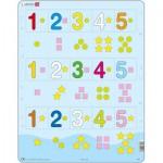 Larsen-AR15 Puzzle Cadre - Apprendre les Chiffres de 1 à 5