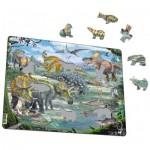 Larsen-FH31 Puzzle Cadre - Dinosaures