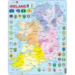 Larsen-K15 Puzzle Cadre - Carte de l'Irlande (en Anglais)