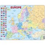 Larsen-K2T-FR Puzzle Cadre - Carte de l'Europe (en Français)