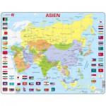 Larsen-K44-DE Puzzle Cadre - Carte de l'Asie (en Allemand)