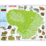 Larsen-K47 Puzzle Cadre - Carte de la Lituanie (en Lituanien)