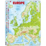 Larsen-K70-FR Puzzle Cadre - Carte de l'Europe (en Français)