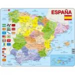 Larsen-K85 Puzzle Cadre - Carte de l'Espagne (en Espagnol)
