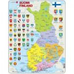 Larsen-K99 Puzzle Cadre - Carte de la Finlande (en Finnois)