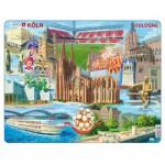 Larsen-KH15 Puzzle Cadre - Souvenirs de Cologne, Allemagne