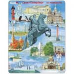 Larsen-KH16 Puzzle Cadre - Souvenirs de Saint-Petersburg, Russie