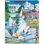 Larsen-KH7 Puzzle Cadre - Souvenirs des Etats-Unis
