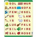 Larsen-LS15 Puzzle Cadre - Apprendre à épeler 1 (en Norvégien)