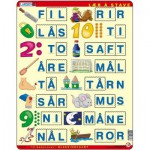 Larsen-LS16 Puzzle Cadre - Apprendre à épeler 2 (en Norvégien)