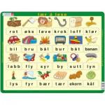 Larsen-LS31 Puzzle Cadre - Lær å lese (små bokstaver) (en Norvégien)