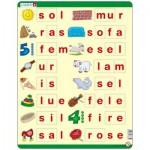 Larsen-LS35 Puzzle Cadre - Lær å lese (små bokstaver) (en Norvégien)
