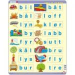 Larsen-LS38 Puzzle Cadre - Lær å lese (små bokstaver) (en Norvégien)