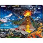 Larsen-NB2-DE Puzzle Cadre - Le Volcan (en Allemand)