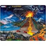 Larsen-NB2-EE Puzzle Cadre - Volcan (en Estonien)