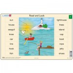 Larsen-RA1-1 Puzzle Cadre - Apprendre l'Anglais : Read and Look 1 (en Anglais)