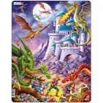 Larsen-US17 Puzzle Cadre - Les Dragons attaquent !
