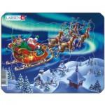 Larsen-Z5 Puzzle Cadre - Le Père Noël dans les Lumières Nordiques